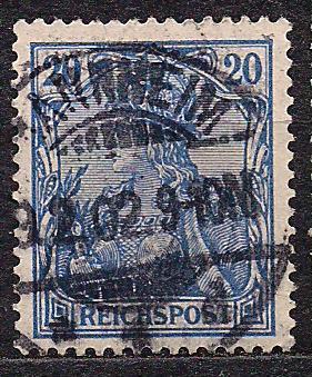 Рейх, 1900 г., !!!, акция 20% каталога, стандартный выпуск посвященный 100-летию Германии, марка №57