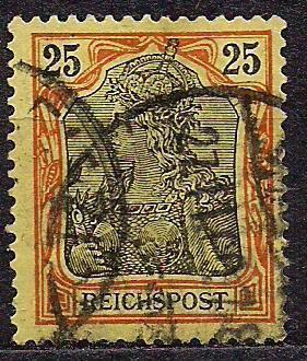 Рейх, 1900 г., !!!, акция 20% каталога, стандартный выпуск посвященный 100-летию Германии, марка №58