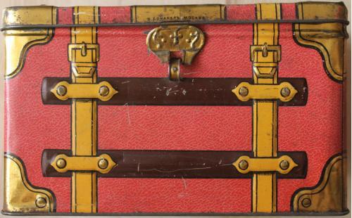 Банка коробка жестяная старинная от конфет шоколада В. Ефимов Киев Реклама Печать Бонакер Москва