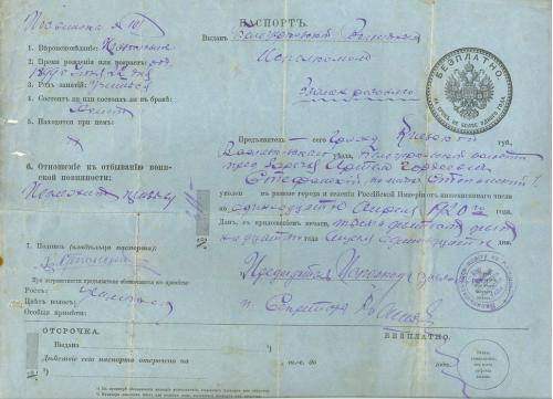Белая Церковь Паспорт Волостной исполком 1920 год Народна Рада Васильківський повіт УНР