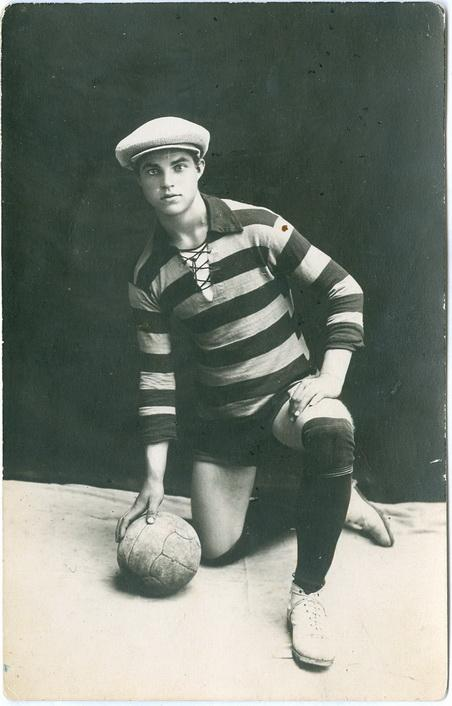 Футбол Фото открытка 1928 год Спорт Мяч Винтаж