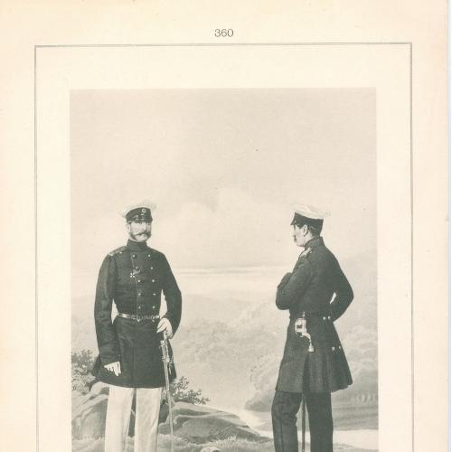 Генерал и медик Лейб-гвардейского Семеновского полка Фототипия Голике и Вильбор Военная форма Сабля