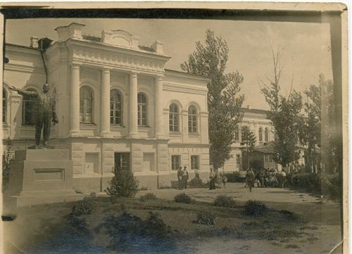 Глухов Дом Терещенко Фото 1930 год Памятник Ленину Украина