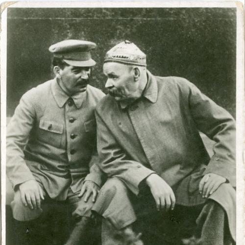 Горький Сталин Генеральный секретарь Коммунистической партии Изд. Союз фото Пропаганда СССР