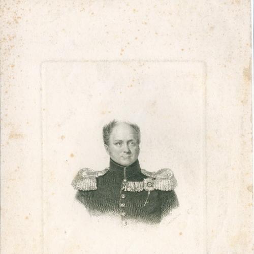 Император Александр Павлович Гравюра Россия