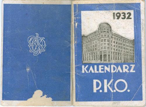 Календарь Польша Почтовый Банк П.К.О. 1932 Варшава Катовицы Познань Краков Bank P.K.O. Warszawa