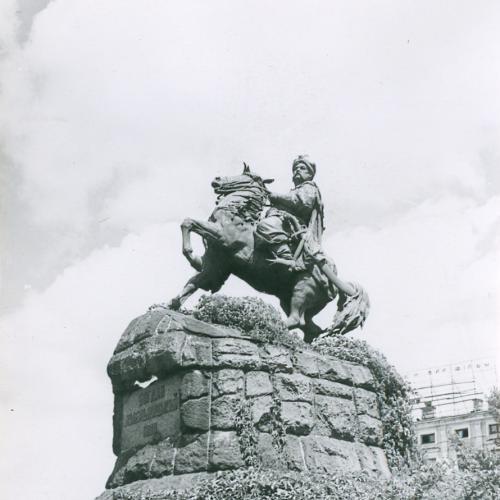 Киев Памятник Б. Хмельницкому Софиевская Площадь Фото Сайко 1960 год Пропаганда Соцреализм СССР