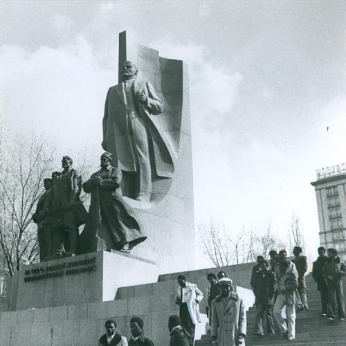 Киев Памятник Ленину Площадь Октябрьский революции Майдан Незалежности Фото 1978 Пропаганда СССР