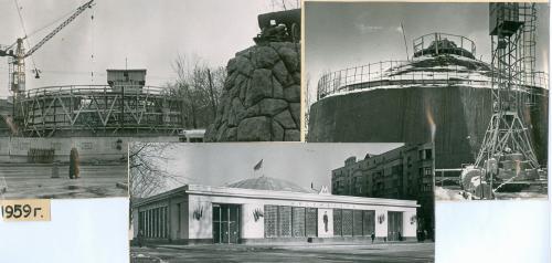 Киев Станция метро Арсенальная Строительство Фото 1959 год Метрополитен Украина СССР