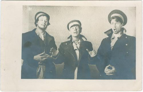 Киев Студенты Фото открытка 1914 год Табачный и писчебумажный магазин Стамбул Фундуклеевская 24