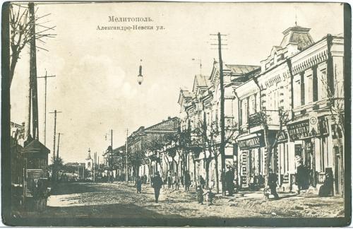 Мелитополь Александро-Невская улица Книжный магазин Открытка Украина