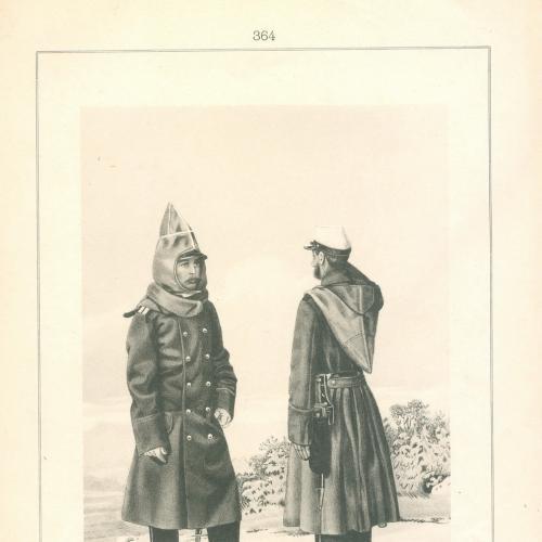 Обер-офицер и рядовой Лейб-гвардейского Волынского полка Фототипия Голике и Вильбор Военная форма
