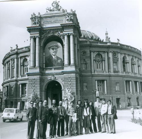 Одесса Национальный Театр Оперы и балета Пер. Чайковского Фото 1978 год Пропаганда Ленин СССР
