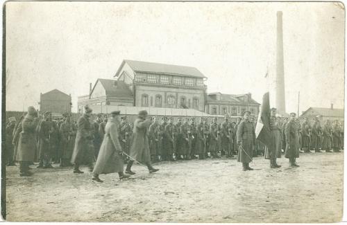 Пирятин Плац Фото открытка 1917 год Война Форма Сабля Оружие Полтавская губерния