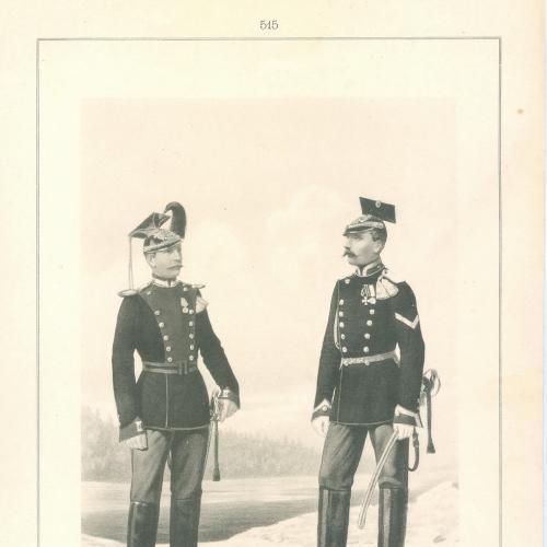 Рядовой Офицер Лейб-Уланского Курлянского полка Фототипия Голике и Вильбор Военная форма Сабля