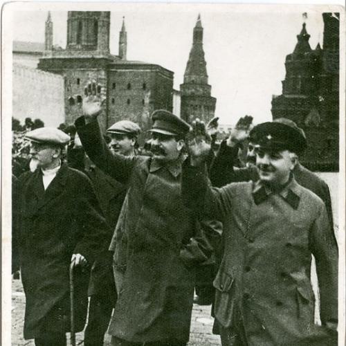 Сталин Калинин Ворошилов К походу Челюскина Изд. Союз фото 1934 год Пропаганда СССР