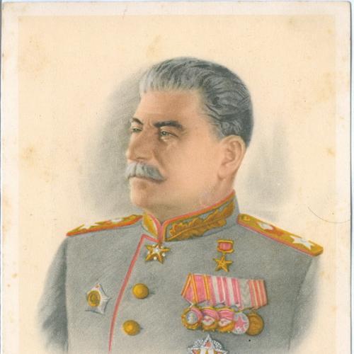 Сталин Верховный Главнокомандующий Маршал Изд. СВА Германия Форма Награда Пропаганда СССР