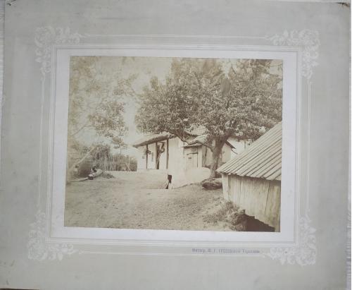 Тирасполь Фотограф Мойша Гершовтч Гроссман 1897 год Дом Хата с погребом Винтаж Бессарабия Молдова