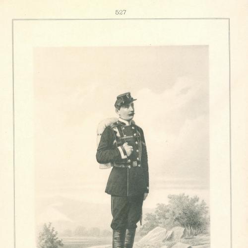 Унтер-офицер Военных Железнодорожных Команд Фототипия Голике и Вильбор Военная форма