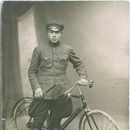 Велосипед Фото открытка 1923 год Винтаж