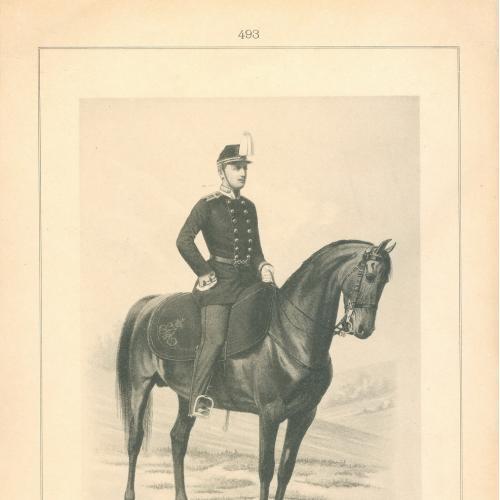 Воспитанник Берейторской Школы Фототипия Голике и Вильбор Военная форма Сабля Лошадь