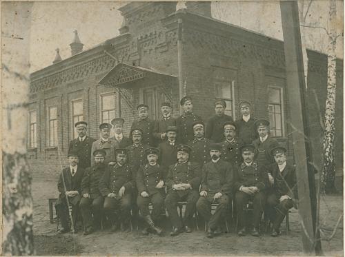 Железно дорожная станция Вокзал Чиновники Фото 1910 год