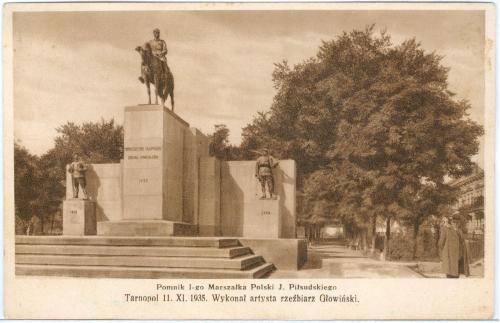 Тернополь Памятник Маршалу Пилсудскому Tarnopol Pomnik 1-go Marszalka J. Pilsudskiego