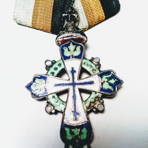 медаль крест 300 лет дома романовых оригинал 1913 год