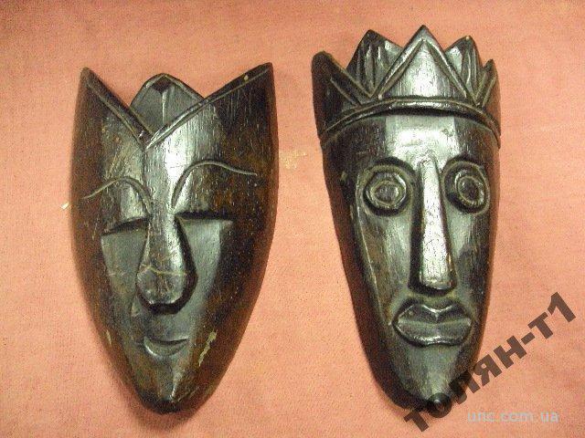 африка дерево маска маски 2 шт