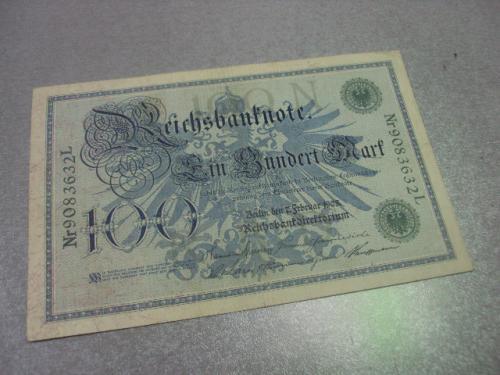 банкнота 100 марок 1908 германия №195