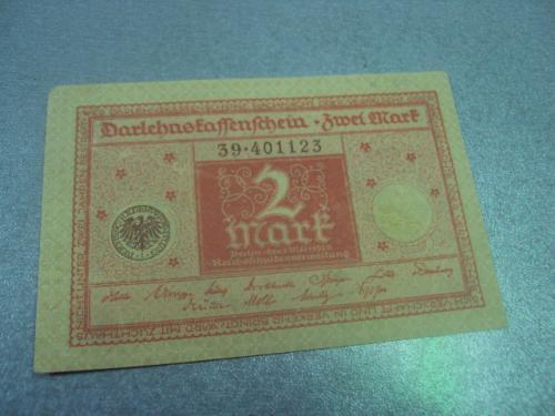 банкнота 2 марки 1916 познань германия №191
