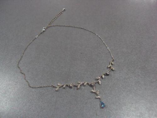 бижутерия набор колье ожерелье и серьги капельки №4