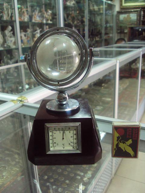 часы настольные термометр барометр глобус