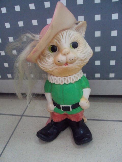 детская игрушка винтаж ссср Кот в сапогах резина №3296