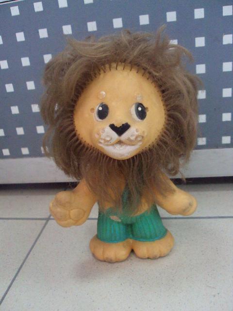 детская игрушка винтаж ссср Львенок лев резина №3295