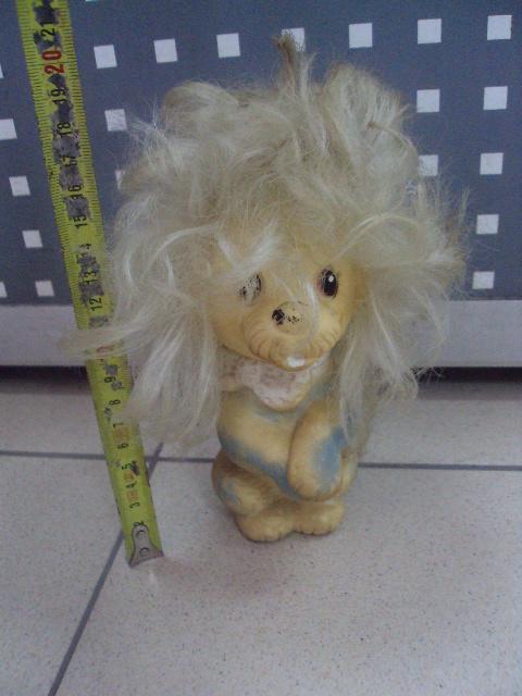детская игрушка винтаж ссср собака пудель Артемон резина №3297