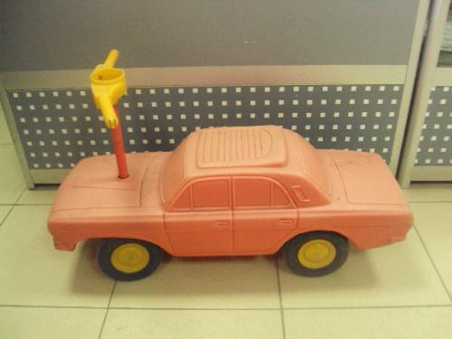 Детский автомобиль, игрушка каталка машина волга с рулем 1971 год ссср №602