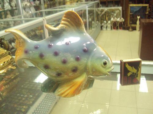 фигура фарфор германия светильник лампа ночник рыбка рыба №28