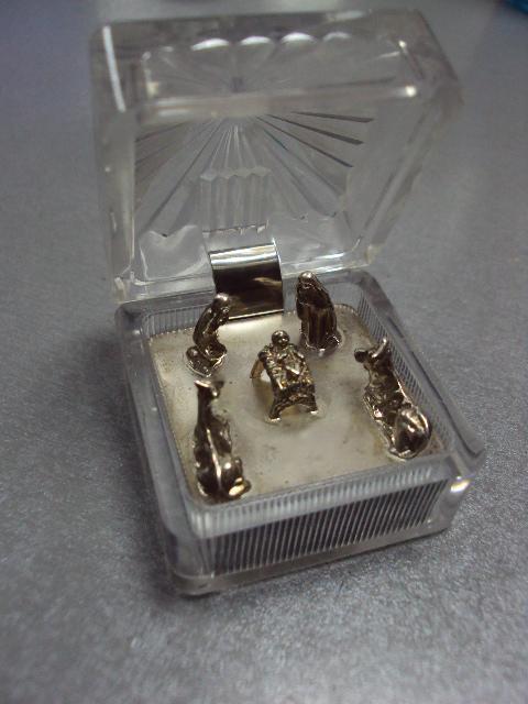 Фигура миниатюра рождество христово серебро 925 проба украина вес 27,14 г №10072