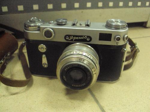 Фотоаппарат зоркий-6 объектив индустар-50 с чехлом