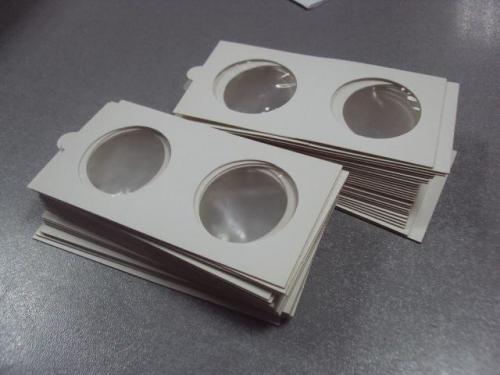 холдер  холдеры для монет на клеевой основе 35 мм лот 55 шт №1722