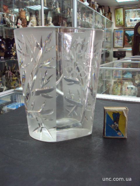 хрусталь ваза олимпиада москва 1980