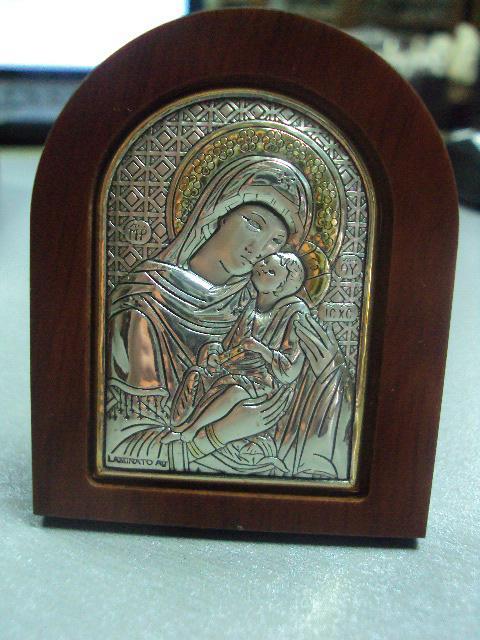 икона иконка серебро италия божья матерь №10