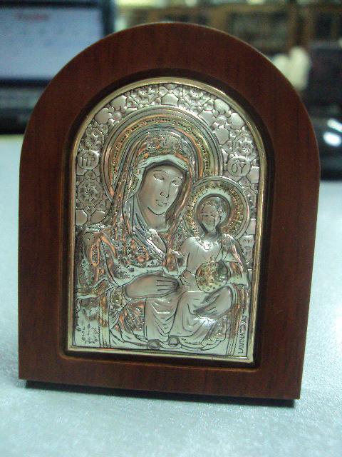 икона иконка серебро италия божья матерь ерусалимская №9