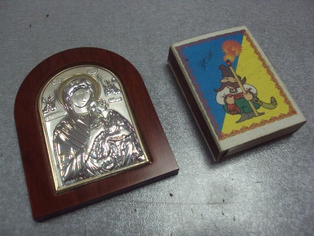 икона иконка серебро италия божья матерь страстная №11