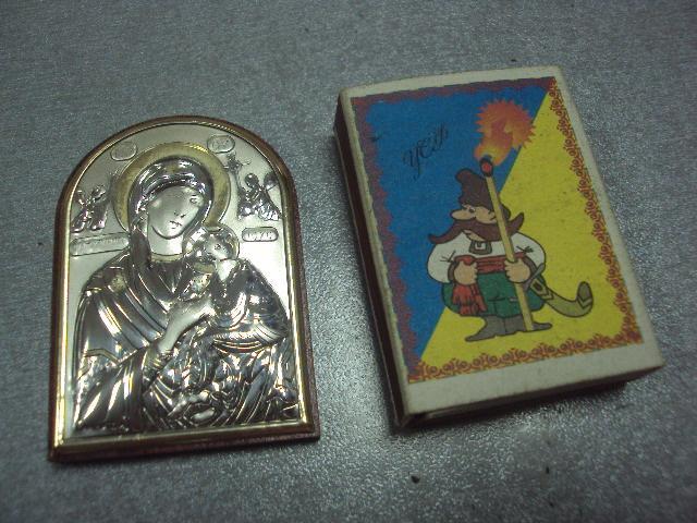 икона иконка серебро италия божья матерь страстная №3
