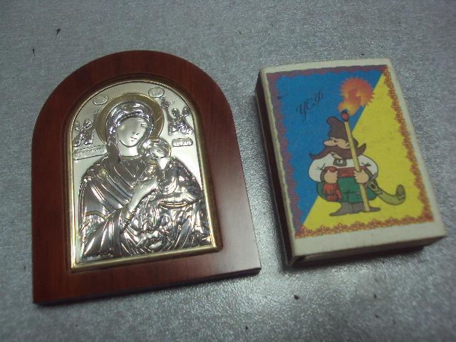 икона иконка серебро италия божья матерь страстная №8