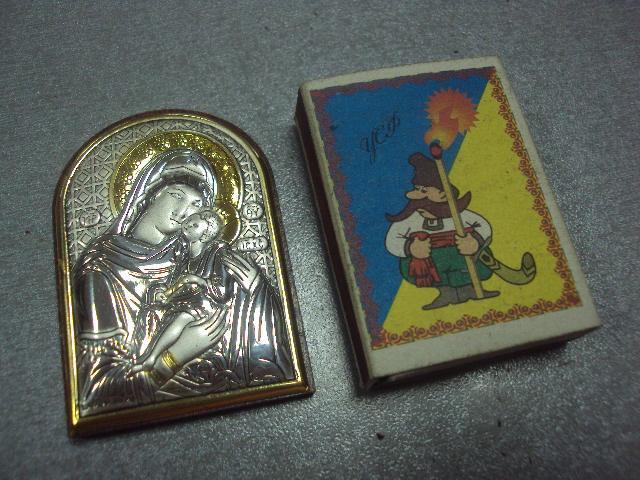 икона иконка серебро италия божья матерь умиление №4