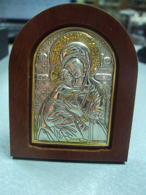 икона иконка серебро италия божья матерь владимирская №15