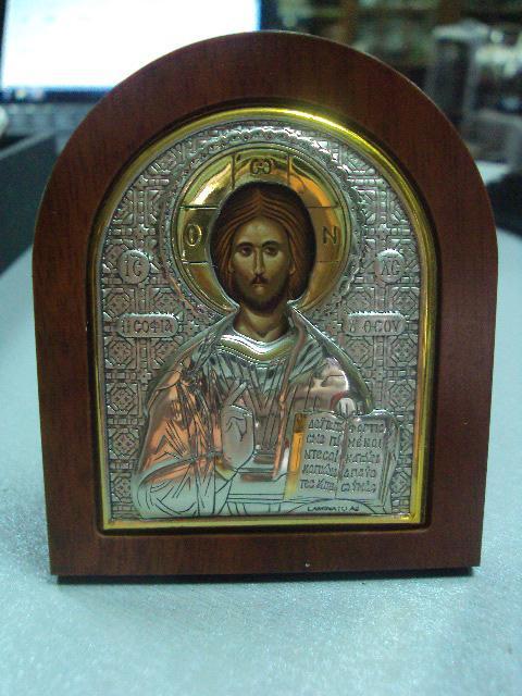 икона иконка серебро италия иисус христос №13